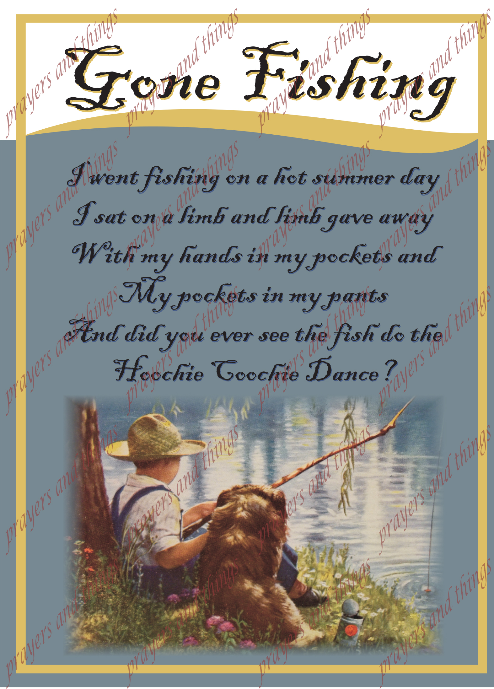 Gone fishing prayers and things for Gone fishing poem